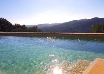 hotel rural girona piscina habitacion