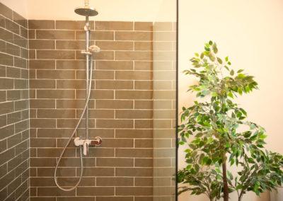 cette chambre hote de charme est équipée d'une douche